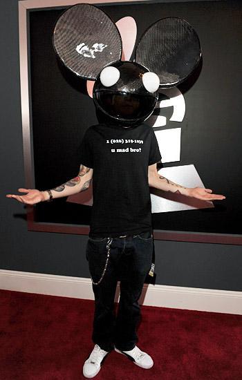 Skrillex Wins Three Grammys, Deadmau5 wears t-shirt with ...