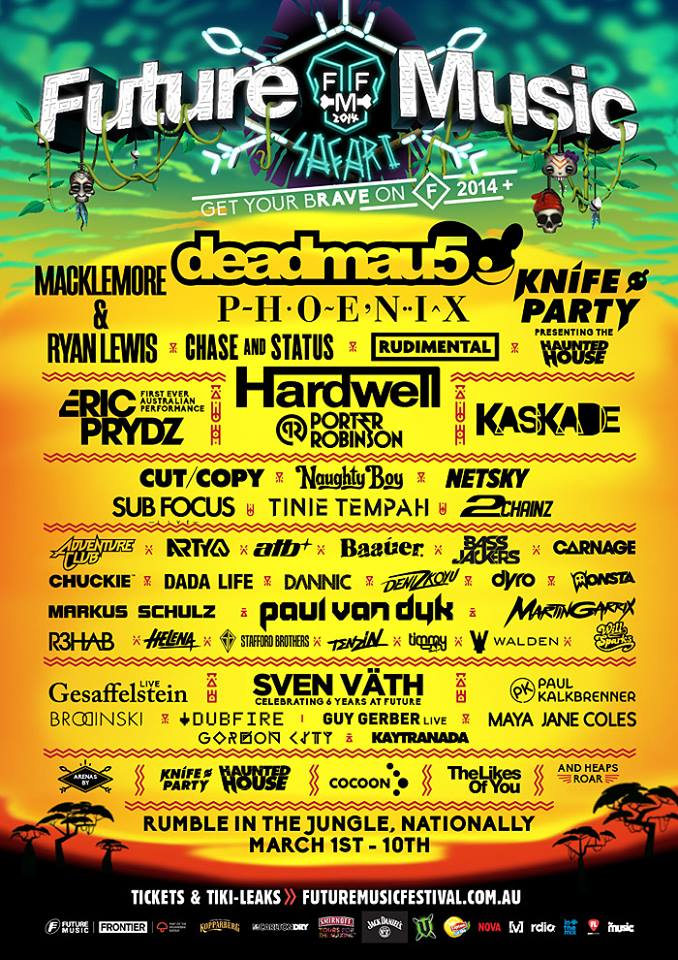 Future Music Festival Line Up 2014