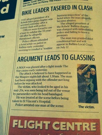 glassing - The Sunday Telegraph