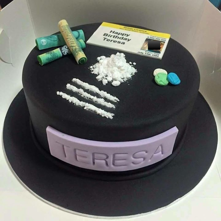 teresa birthday cake blurred