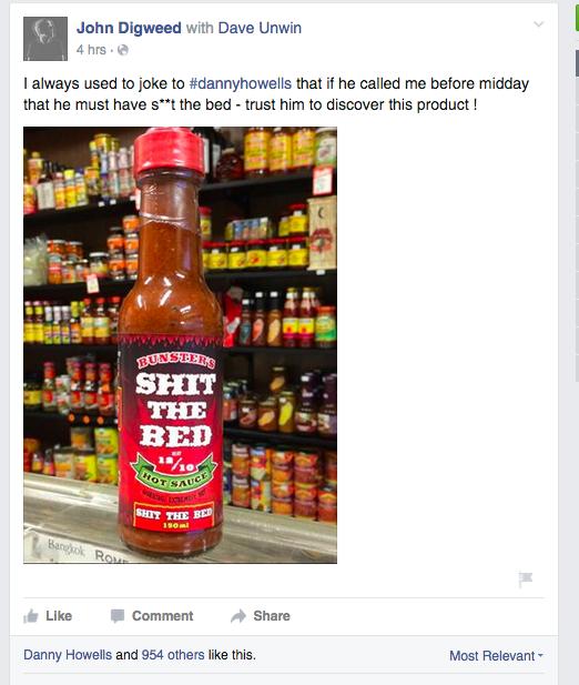 John Digweeds FB post