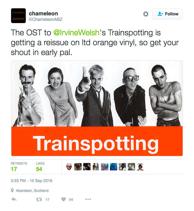 Trainspotting S Stellar Original Soundtrack Is Being Reissued