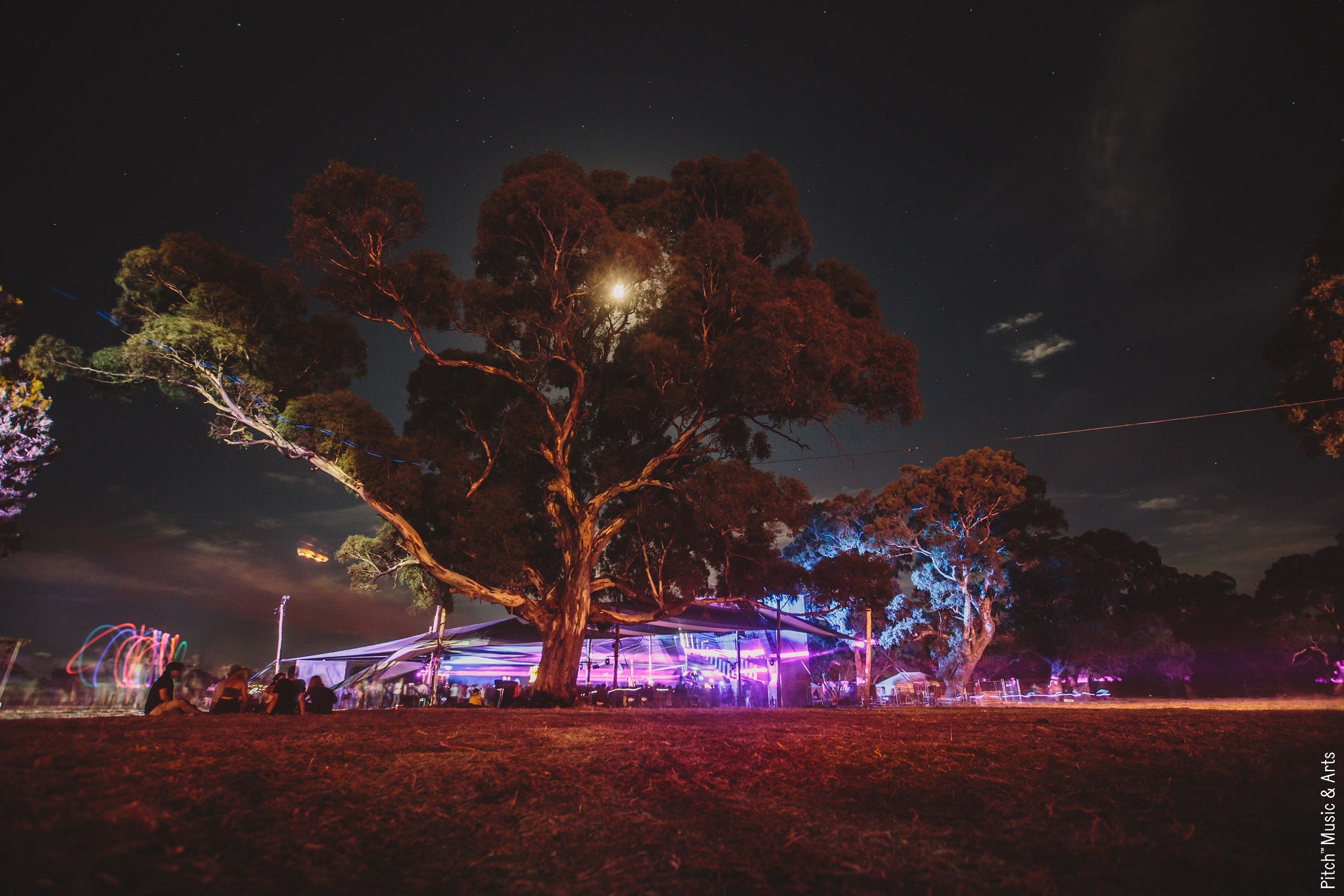 Night scenes just outside main stage. Photo by Duncographic.