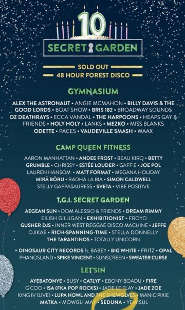 The 2018 Secret Garden lineup is here and it's real nice!