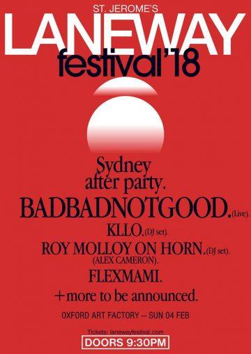 Bonobo, Badbadnotgood, Kllo + more announce Laneway afterparties