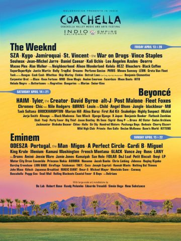 The Coachella lineup is here and *shock* it's massive
