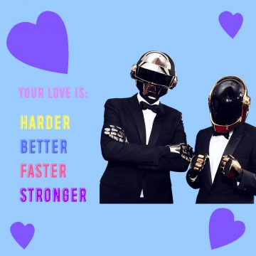 Here are some Valentines Day cards from electronic music sweethearts to you