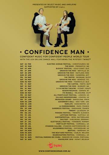 Talking the art  confidence with Confidence Man ahead  their debut album