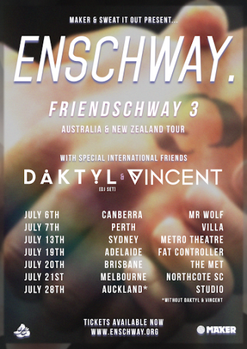Enschway has a new EP and massive Aus tour coming soon!