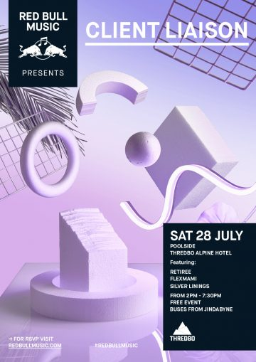 Client Liaison are playing a FREE party at the snow next month