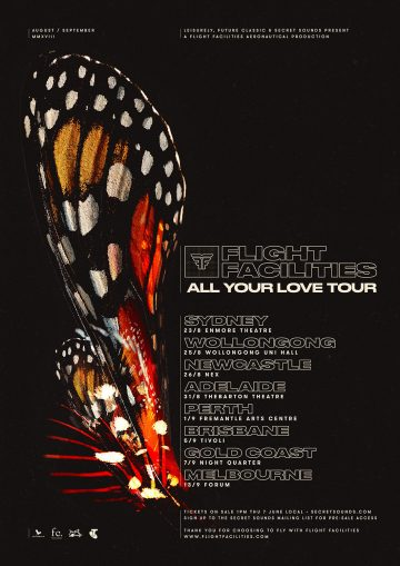 Flight Facilities announce nationwide 'All Your Love' tour