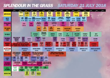Here are the Splendour set times and event map for 2018